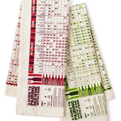 wine pairing tea towels freelancer gift idea