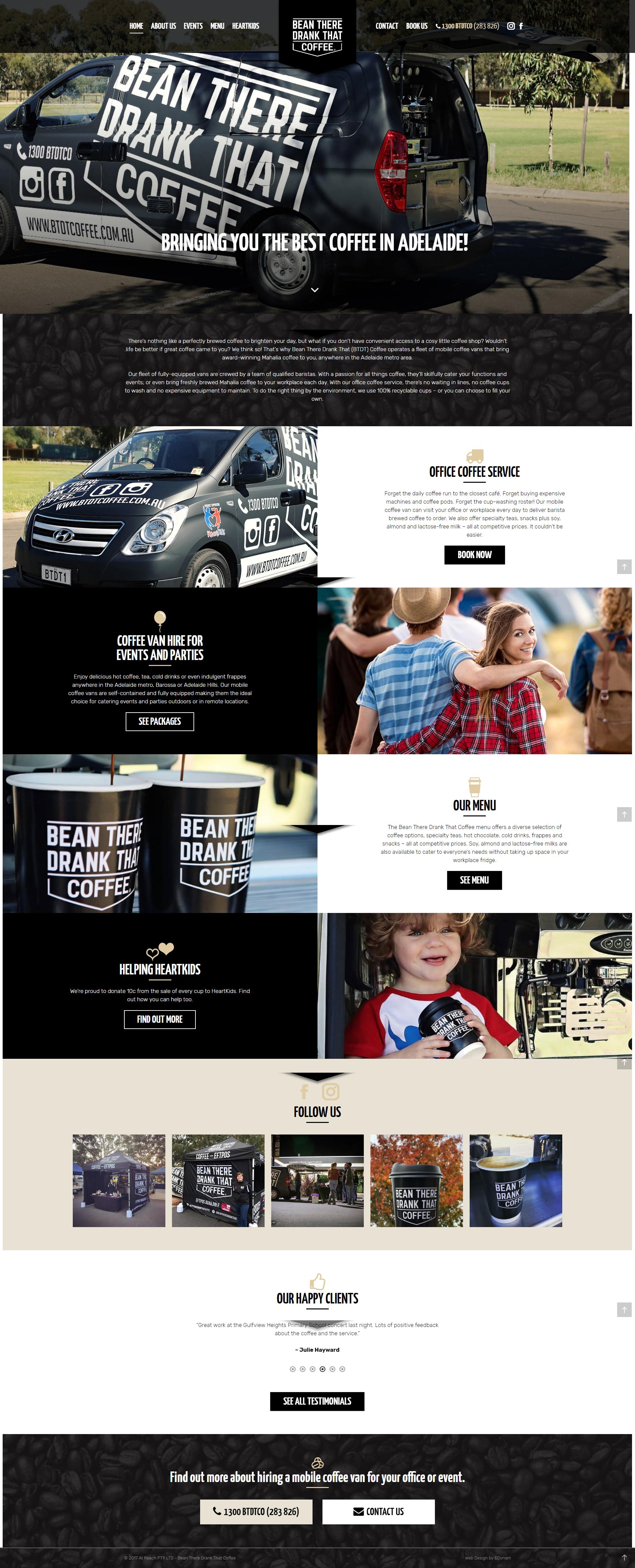 BTDT Coffee - website copywriting