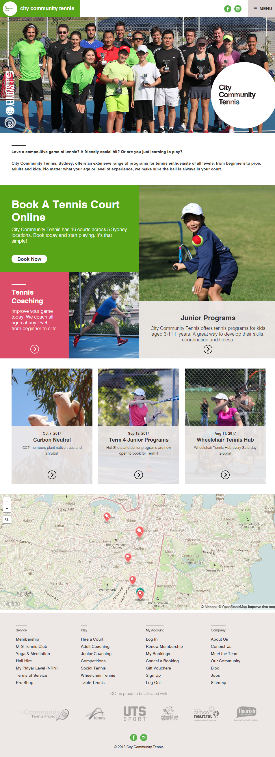 City Community Tennis - website copy